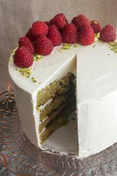 Pistachio Raspberry Cake (GF)
