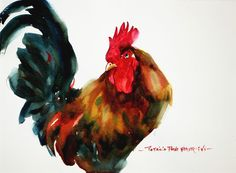 Watercolor - Rooster