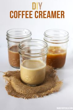 Make your own coffee creamer in less than 5 minutes. Preservative free and all-natural ingredients.