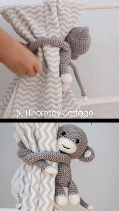 Crochet amigurumi 510103095292152389 - Crochet monkey curtain tie back pattern // left or right side // Crochet window treatment // Nursery Decor // PDF crochet pattern Source by Crochet Monkey, Crochet Baby Toys, Crochet Fox, Crochet Patterns Amigurumi, Crochet For Kids, Crochet Animals, Crochet Crafts, Crochet Dolls, Crochet Projects