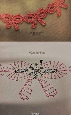 Irish crochet &: Узоры мелкими розами и сердечками.