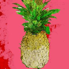 Jessica Russell Flint The Pink Pineapple Print   Best Preppy Gifts For the Home | POPSUGAR Home