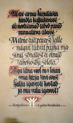Maria Helena Hoksch ~ calligraphy