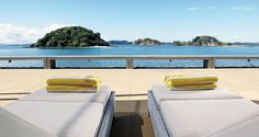 The luxury of peace at last on your New Zealand adventure Luxury Escapes, Romantic Escapes, Romantic Getaways, Luxury Tents, Luxury Yachts, Bay Lodge, New Zealand Adventure, Bay Of Islands, Luxury Accommodation