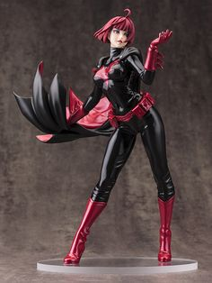 After teasing concept art and closeup detail, Kotobukiya has at last debuted its DC Comics Batwoman Bishoujo statue, with and without Kate Kane's mask and wig. Unfortunately, the images aren't … Batwoman, Batgirl, Dc Comics, Anime Comics, 3d Figures, Action Figures, Bishoujo Statue, Comic Art, Comic Books