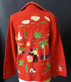 Vintage Embroidered Mexican Jacket. I had one like this when I was a little kid.  I was soooooo sad when I outgrew it.  Must replace it!!!