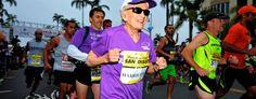 Harriette Thompson starts the Suja Rock 'n' Roll Marathon in San Diego on May 31. (Paul Nestor/Competitor Group via AP)