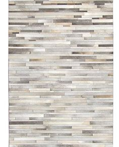 Bunkar Handmade Leather Grey Cowhide Rug 'Stripes' (8'x10' (240cm x 300cm) XL Area Rug): Amazon.co.uk: Kitchen & Home