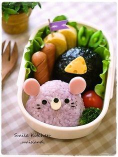 mouse onigiri bento