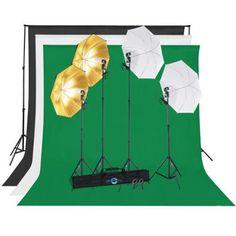 Shutter Starz SS6500 Premium Photography Economy Umbrella Kit for Home Studio