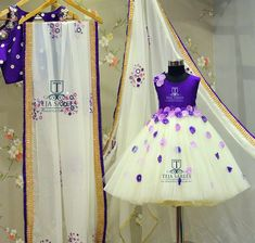 Boutique Mommy Daughter Dresses, Mom And Baby Dresses, Dresses Kids Girl, Mom Daughter, Teja Sarees, Saree Blouse Designs, Mother And Child, Kids Wear, Kids Girls
