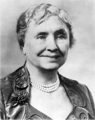 """Helen Adams Keller Social Activist. After losing her sight and hearing when only 19 months old, Helen Keller would learn to read and write with the help of Anne Sullivan of the Perkins Institute for the Blind; this extraordinary process was later immortalized in William Gibson's 1959 play """"The Miracle Worker.""""  1880-1968"""