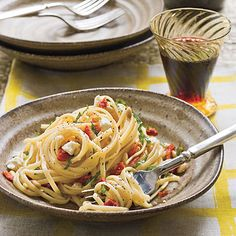 Learn how to make Linguine With Sun-Dried Tomatoes. MyRecipes has 70,000  tested recipes and videos to help you be a better cook