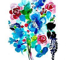 Watercolour Floral artwork by jen28nart