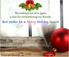 Best wishes for a wonderful holiday season.