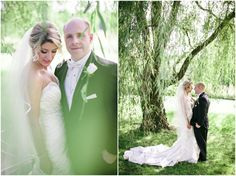 Who doesn't love bridal portraits in the willow trees??