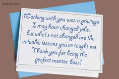 Writing a Thank You Note to Your Boss