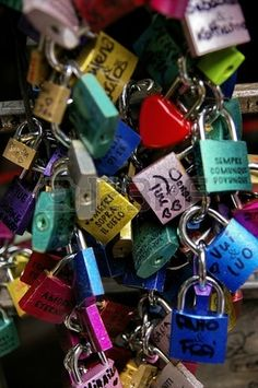 A lot of padlocks sign of love by Concetta Biddeci