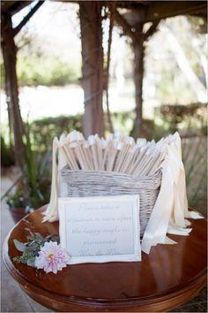 celebration streamers #streamers #ceremonyideas #weddingfavors http://www.weddingchicks.com/2013/12/17/elegant-southern-california-wedding/