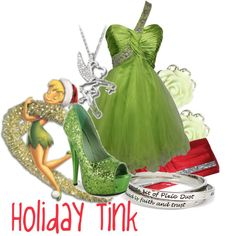 """""""Holiday Tinkerbell"""" by jami1990 on Polyvore"""