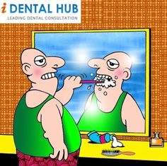 Dental Humor - I do believe some people do it like this