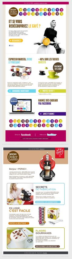 Beautiful Email Newsletters » Blog Archive » Nestle Dolce Gusto