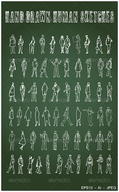 60 Hand Drawn Human Sketches #GraphicRiver This set includes 60 hand drawn human sketches, suitable for architectural drawings and any other design templates or backgrounds. Main files are EPS10, AI and high res. JPEG. Please rate if you like this work.