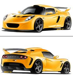 Lotus - Great supercar design sketches & 3D