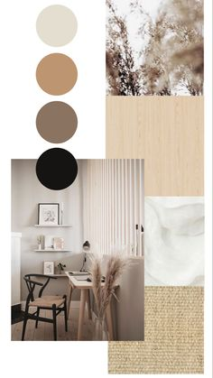 Room Colors, House Colors, Colours, Interior Inspiration, Moodboard Interior Design, Interior Design Presentation, Paint Colors For Home, Minimalist Home, Colour Schemes