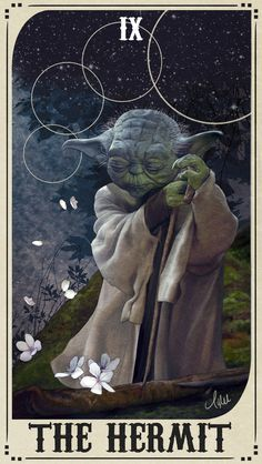 Star Wars Tarot Deck - IX The Hermit by ctyler