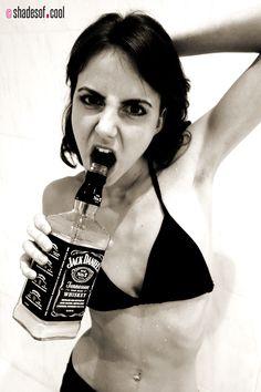 Maya vs Jack Daniels photoshoot for http://shadesof.cool/zine/
