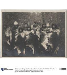 Selk'nam (Ona) family, ca 1900