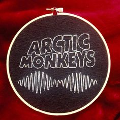 Arctic Monkeys Embroidery Logo by embroiderypoops on Etsy