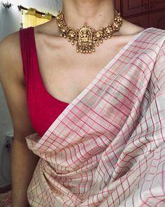 Made to Order – Tamara Sari Design, Design Color, Diy Design, Saree Jewellery, Bengali Jewellery, Body Jewellery, Simple Sarees, Simple Saree Blouse Designs, Saree Trends