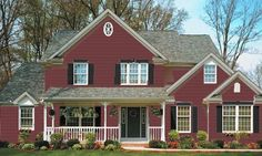 Image detail for -siding colonial red kay07 trim flagstone kay48 accent black kay13