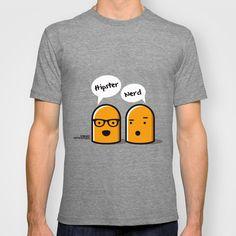 Hipster Nerd T-shirt by Kioshi Shimabuku - $18.00