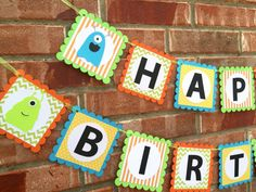 Little Monster Birthday Banner Monster Birthday by Craftytude