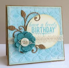 Birthday Greetings; Sweet Roses; Pierced Circle STAX Die-namics; Leaf-Filled Flourish Die-namics; Pretty Posies Die-namics; Petal Pattern Stencil - Melody Rupple