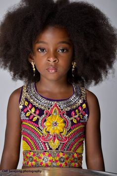 Native to the South American country of Suriname, 7-year-old Cherelice's modeling photo shoots have yielded a combined 50,000 likes on Facebook.