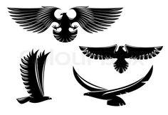 Heraldry eagle symbols