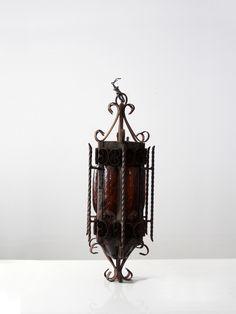 vintage iron chandelier