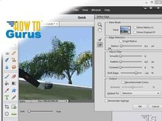 Adobe Photoshop Elements Refine Edge of Selection. How to make a selection and refine the edge of in Photoshop Elements. ► Be a Photoshop Elements Guru - Cli...