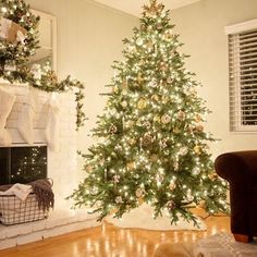 Rustic Glam Christmas Tree and Mantel - Happy Christmas - Noel 2020 ideas-Happy New Year-Christmas Noel Christmas, Merry Little Christmas, Rustic Christmas, Winter Christmas, Christmas 2019, Christmas Mantles, Vintage Christmas, Victorian Christmas, Christmas Lights