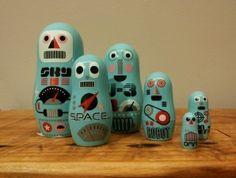 www.eladiz.com online shop  #IngelaP.Arrehnius #matrioskas #deco #illustration #diseñosueco #agasallo #robots #santiagodecompostela