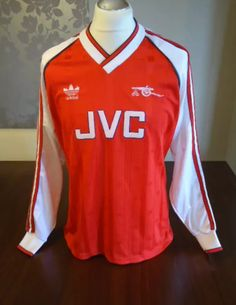 6cda1ac66b2 Very Rare 1988 Arsenal Adidas Home Long Sleeved Player Issue Football Shirt  - Auction Ends Today