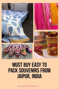 Must Buy Easy to Pack Souvenirs from Jaipur - Explore with Ecokats Travel Destinations In India, India Travel Guide, Travel Souvenirs, Bali Travel, Travel Gifts, Tokyo Japan Travel, Blue Pottery, Worldwide Travel, China Travel