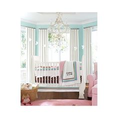 baby / Coco Dot Nursery | Pottery Barn Kids ❤ liked on Polyvore