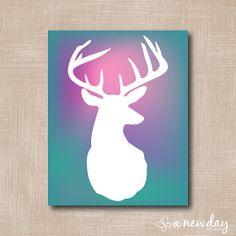 Deer Print Instant Download Art Print / DIY by anewdaystudio, $5.00 www.etsy.com/shop/anewdaystudio