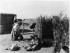 Papago Indians, domestic life. Papago Indian Agency, Sells, Arizona.
