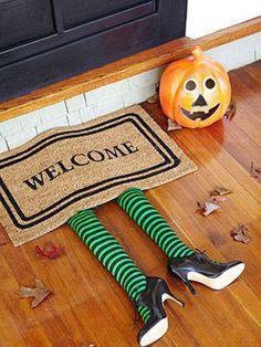An easy-to-make #Halloween doormat